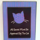 Cute Cat Oriented Wall Plaque