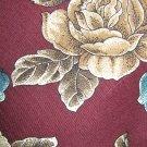 Oscar de la Renta floral print on burgundy necktie