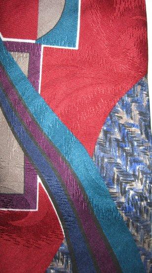 Oscar de la Renta polyester abstract necktie