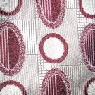 Surrey burgundy on silver gray polyester dress necktie