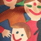 Save the Children 100% silk necktie multi racial faces