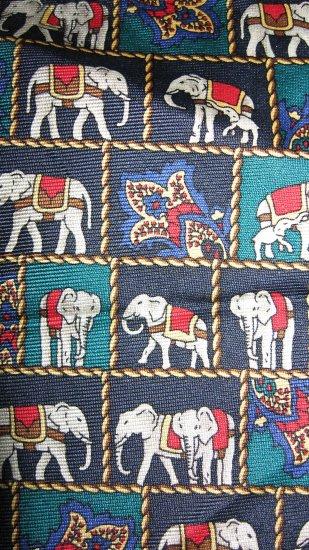 Van Heusen silk necktie Republican elephants pattern