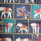 Van Heusen silk necktie Republican elephants pattern