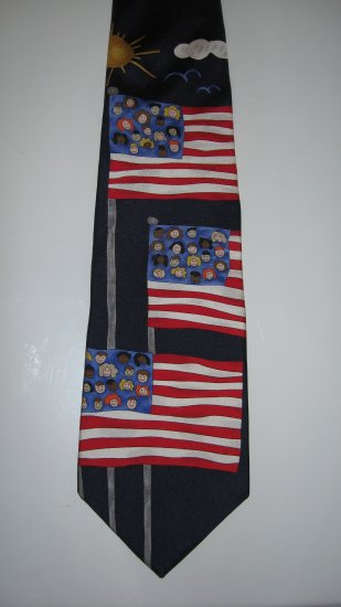 Save the Children 100% silk necktie Children of the USA
