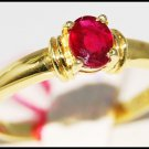 Jewelry 14K Yellow Gold Solitaire Ruby Gemstone Ring [RR055]