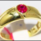 Promise 14K Yellow Gold Gemstone Ruby Solitaire Ring [RR059]