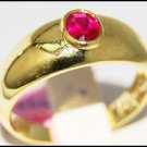 Wedding Solitaire Gemstone Ruby Ring 14K Yellow Gold [RR060]