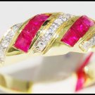 14K Yellow Gold Diamond Gemstone Jewelry Ruby Ring [RR039]