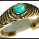 Gemstone Jewelry Oval Emerald 18K Yellow Gold Ring [RS0068]