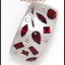 Ruby Pendant Unique Diamond Gemstone 18K White Gold [P0075]