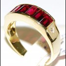 18K Yellow Gold Ruby and Diamond Jewelry Ring [RQ0028]