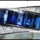 Natural Gemstone 18K White Gold Blue Sapphire Diamond Ring [RQ0024]