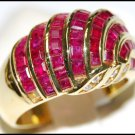 18K Yellow Gold Unique Ruby and Diamond Eternity Ring [R0003]