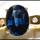 Eternity Blue Sapphire Cocktail Diamond 18K Yellow Gold Ring [RS0150]