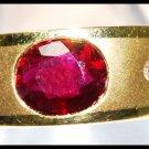 Diamond Ruby 18K Yellow Gold Jewelry Band Ring [RS0065]