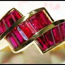 For Men Natural Ruby 18K Yellow Gold Eternity Ring [RQ0004]