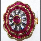 Jewelry Ruby and Diamond Unique 18K Yellow Gold Ring [RF0026]