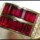 Eternity For Men Ruby and Diamond Unique 18K Yellow Ring [RQ0016]