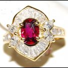 Eternity Diamond Ruby Wedding Ring Unique 18K Yellow Gold [RB0010]