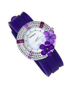 Pretty Purple Stone Lady Fashion Watch