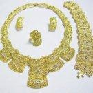 Ornate Gold Jeweled Jewelry 4 Set