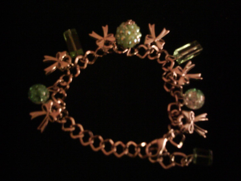 Green Multi-charm Bracelelt