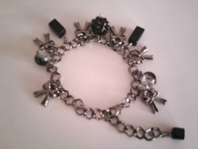 Black Multi-charm Bracelet