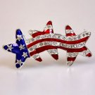 Patriotic Stars Brooch