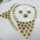 Brown Gold Lace African Jewelry 4 Set