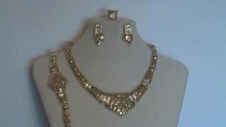 Pierced Gold African Jewelry 4 Set
