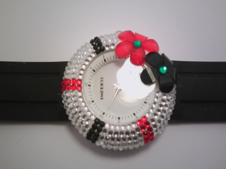 Black Stone Lady Fashion Watch