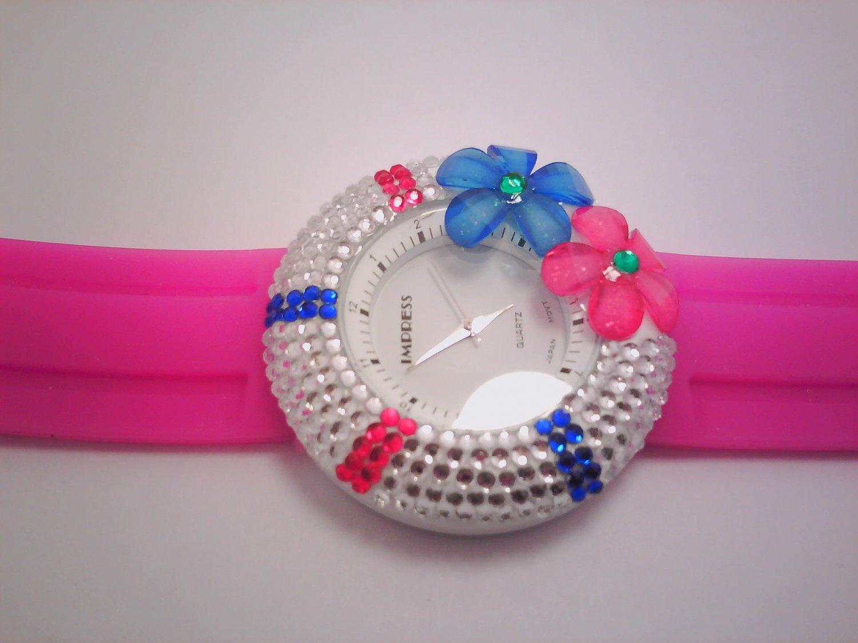 Pink Stone Lady Fashion Watch