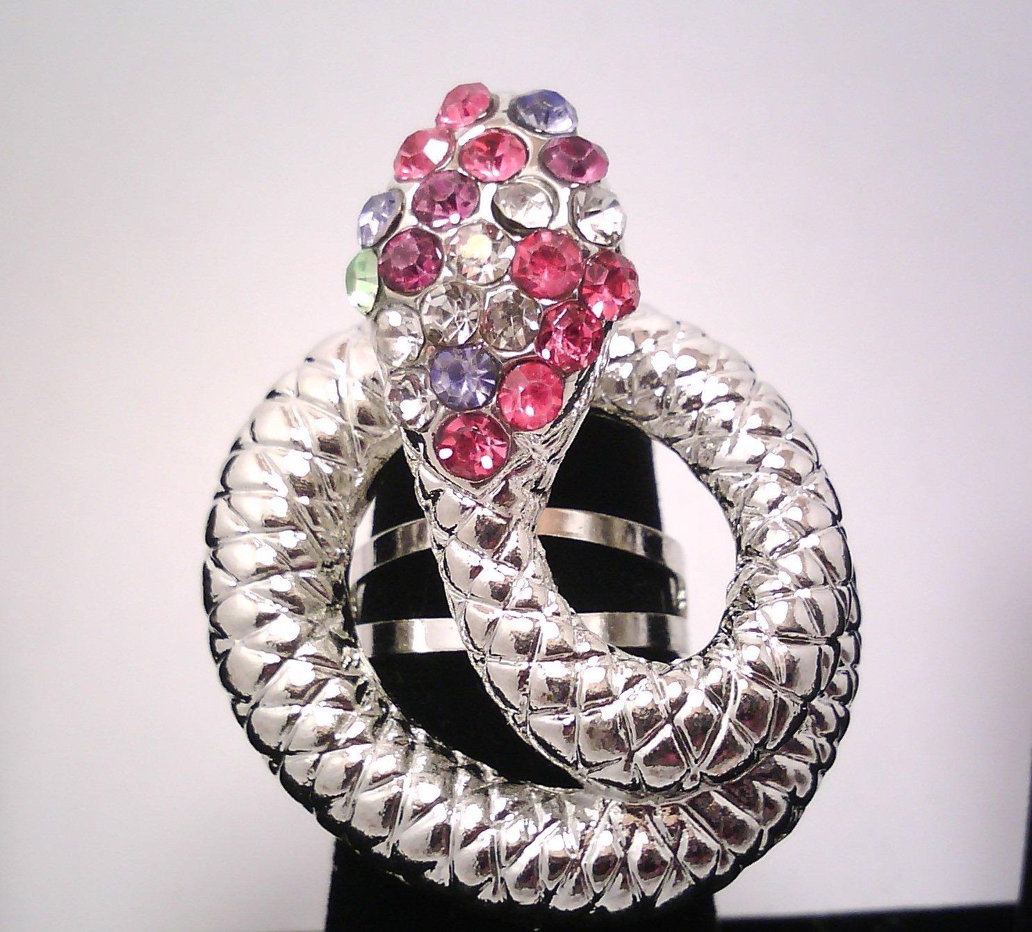 Rainbow Snake Fashion Ring