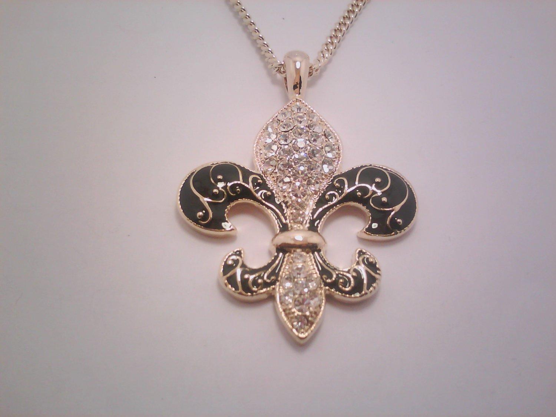 Empress Gold/Black Pendant Necklace