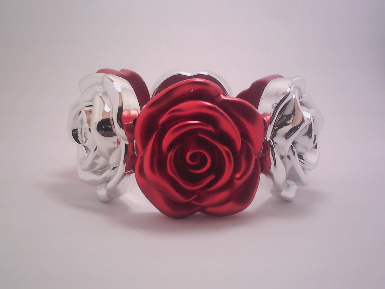Red Flower Stretch Bracelet