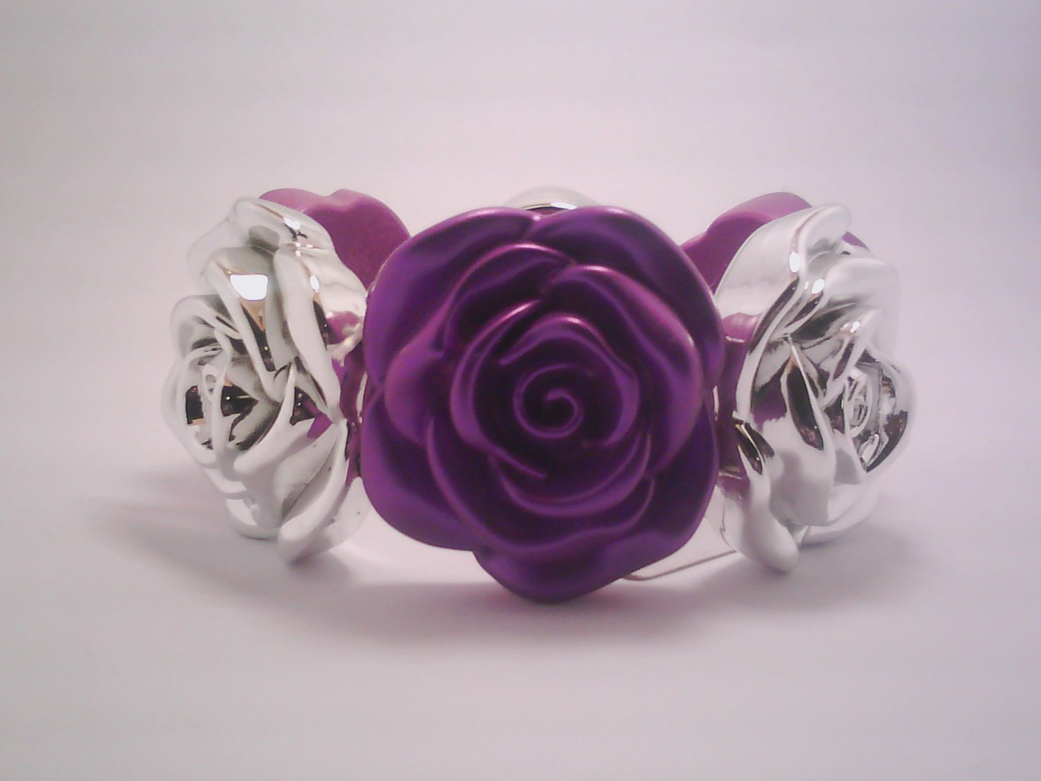 Purple Flower Stretch Bracelet
