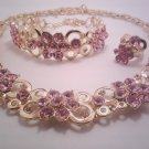 Pink Bubble Flower Jewelry 3 Set