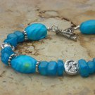 OCEAN BLUE GLASS BRACELET