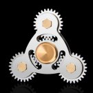 Hand Spinner Four Gear Teeth Fidget Spinner Linkage Metal EDC Torqbar Toy Adult