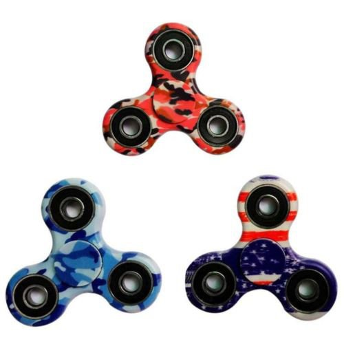 Light Pattern Hand Spinner Fidget Ceramic Finger Ball Focus Stress Hand Desk