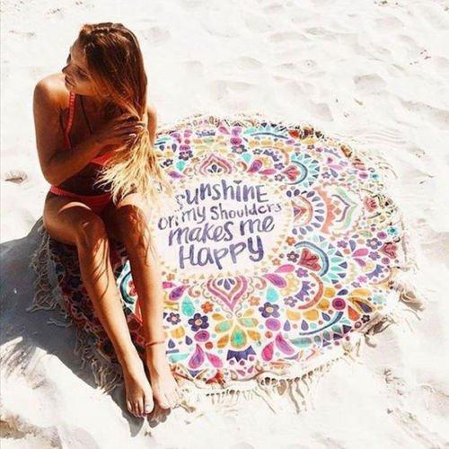 Fashion Round Tassel Beach Tassel Tapestry Summer Swimming Sunbath Beach Towels