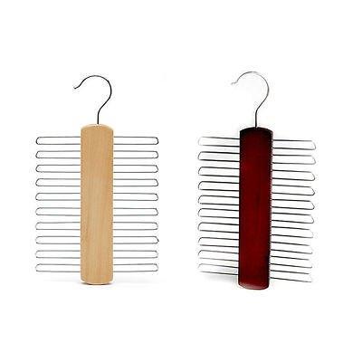 2PCS Ring Scarf Holder Tie Hanger Belt Closet Clothes Organizer Hook Storage