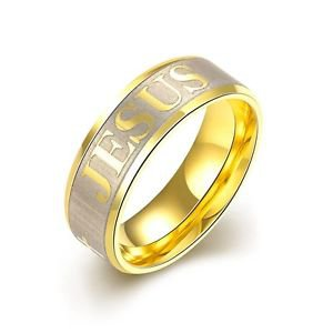 7mm Band Titanium Color Plated Gold  Ring Inlay Men's Wedding Size 7 to 10