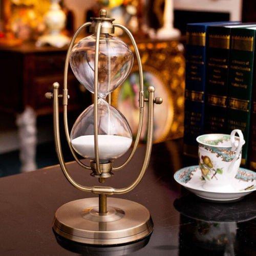 Luxury 30 minute Rotating Wall Hanging Sand Hourglass Sandglass Sand Timer Clock