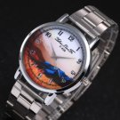Hot Fashion Creative Digital Steel  Quartz Business Wrist Watch For Men women