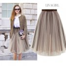 Street Style 6 Layers Women Girls Princess Ballet Tulle Tutu Skirt Wedding Dress