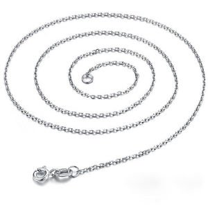 NEW Fashion 925 Sterling Silver Chain Charm Pendant Necklace Jewelry C0030