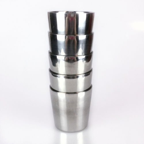 Top 304 Stainless Steel Double Wall Drink Water Heat Insulation Shave Cup Mug