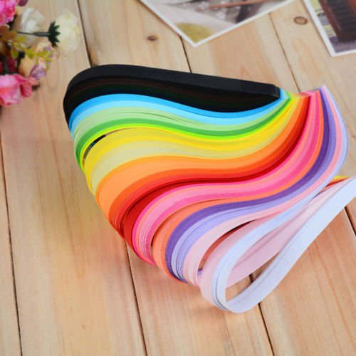 100 x Strip Paper Quilling Gradient Colors 390mm Papercraft DIY Craft Gift Maker