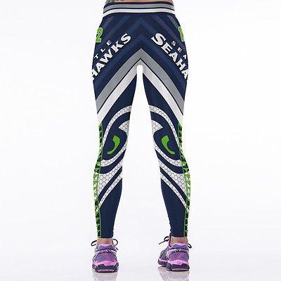 Fashion Women Leggings Digital Printing Sports Skinny Pants Yoga Running Trouser